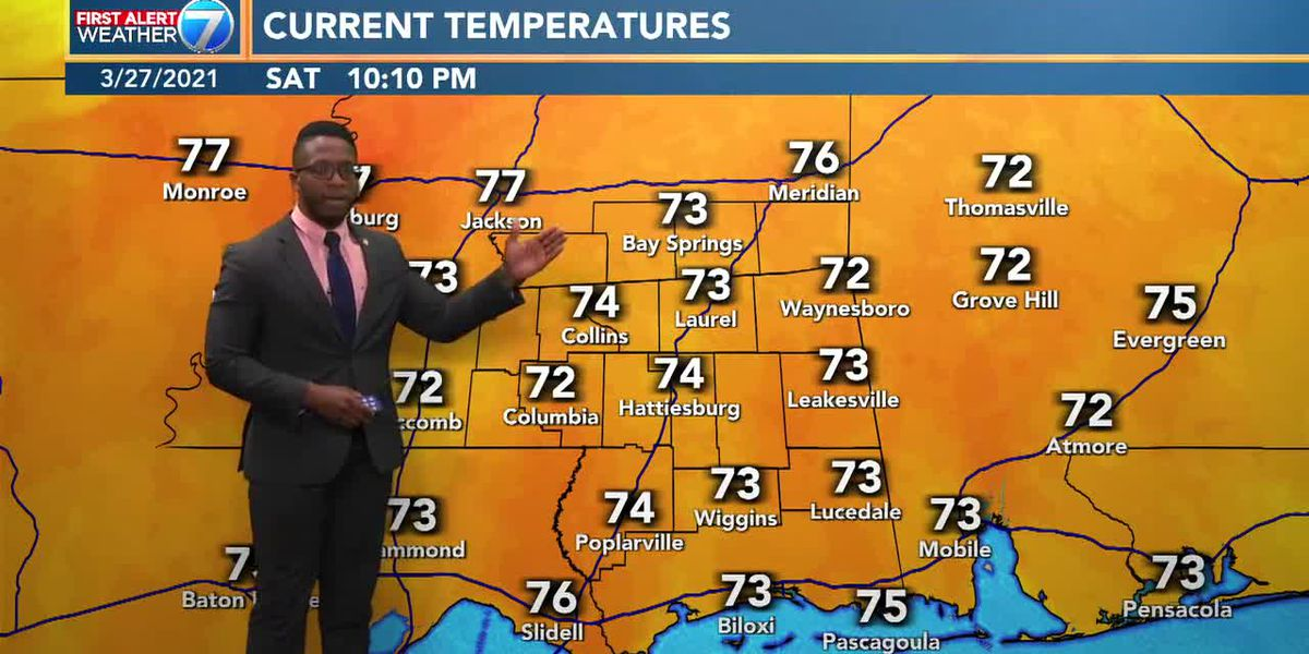 Slim chance for overnight showers Saturday