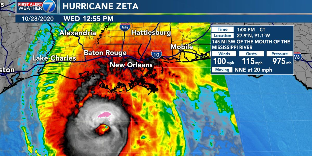 FIRST ALERT: Zeta landfall later today, rain, wind, tornadoes possible for South MS