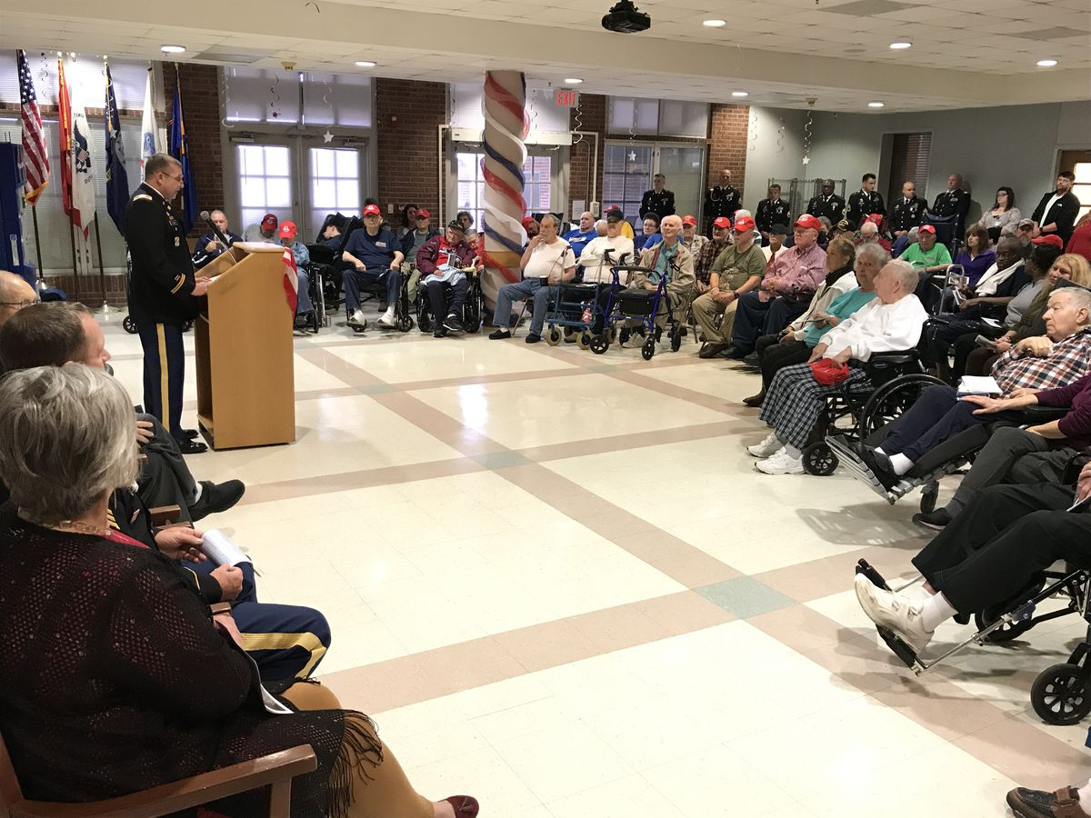 Active duty soldiers honor vets at State Veterans Home