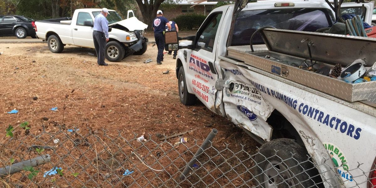 Two-vehicle accident on Old Richton Road in Petal