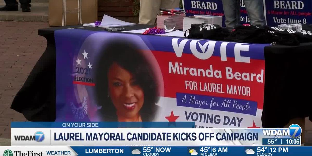 Laurel mayoral candidate kicks off campaign with rally