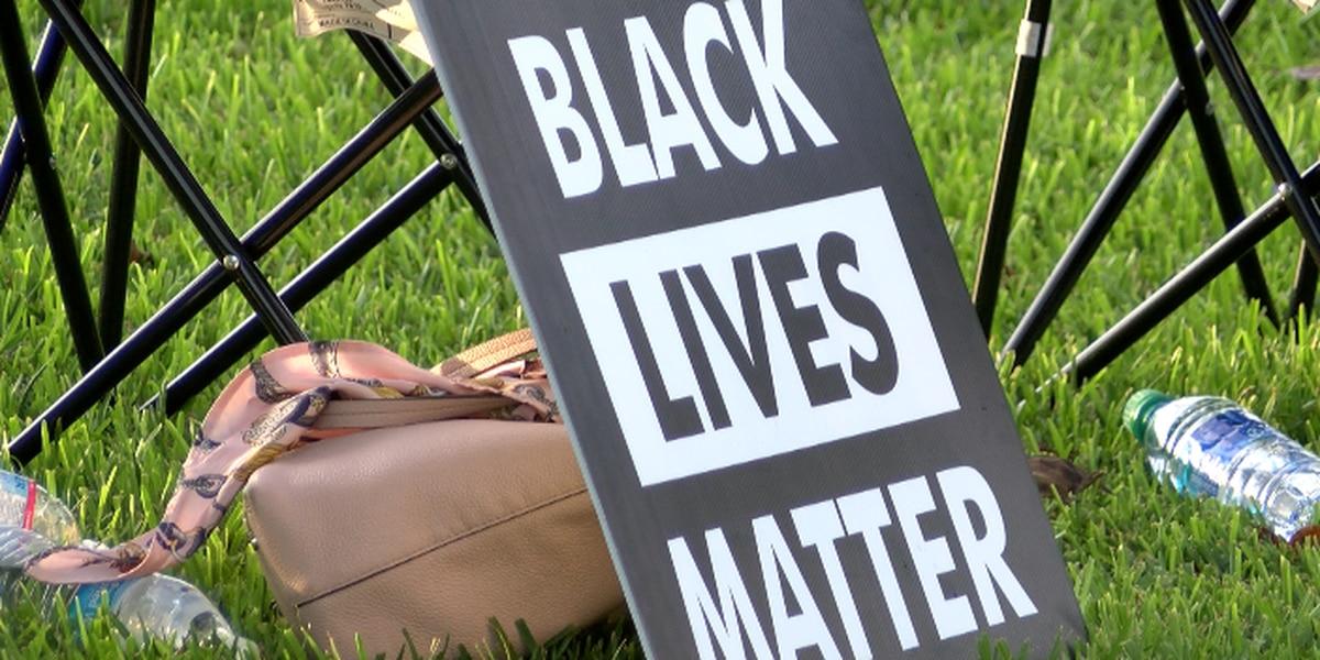 Community members attend BLM prayer vigil Sunday evening