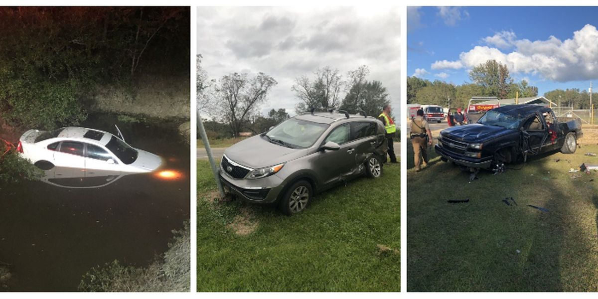 Two vehicle accidents, car in water in Jones Co. this weekend