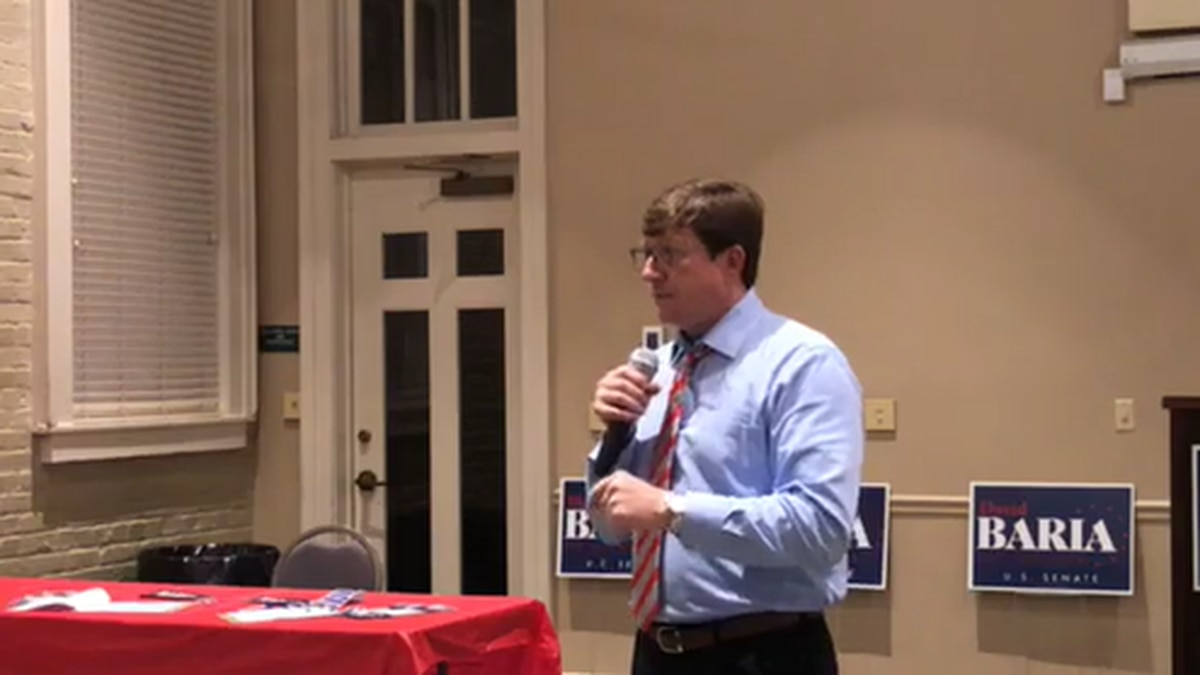 Democratic Senate nominee holds town hall meeting in Laurel