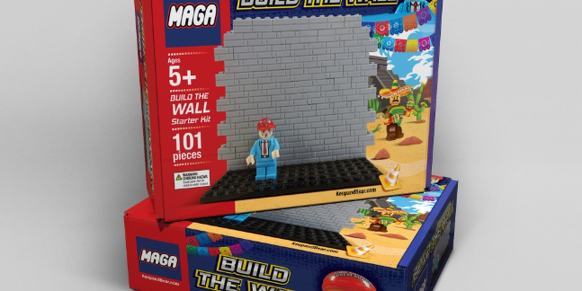 build the wall trump inspired toy sold as great christmas gift for children