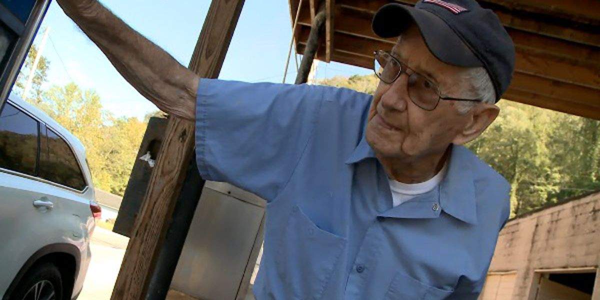 At 90, Claude Yeager is West Virginia's oldest gas station attendant