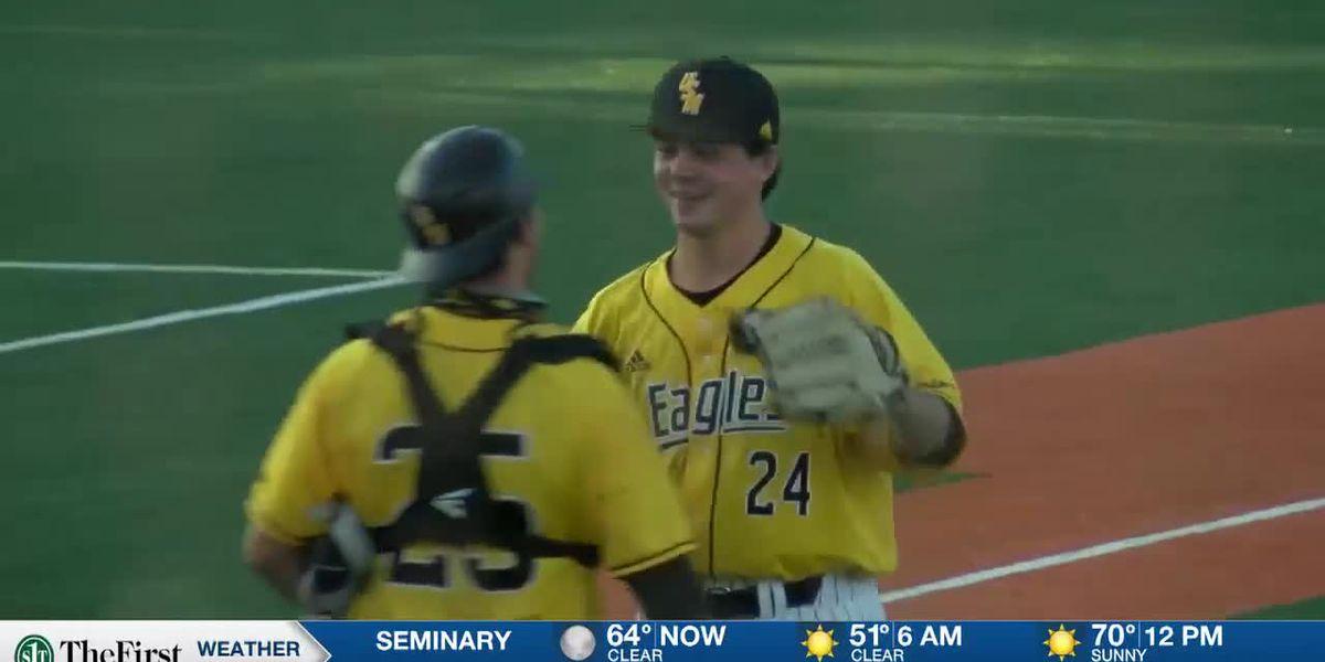 USM baseball sweeps Saturday doubleheader from Western Kentucky