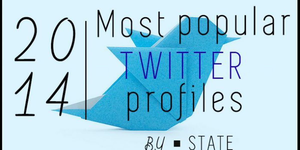 SLIDESHOW: Most popular 2014 Twitter profiles by state
