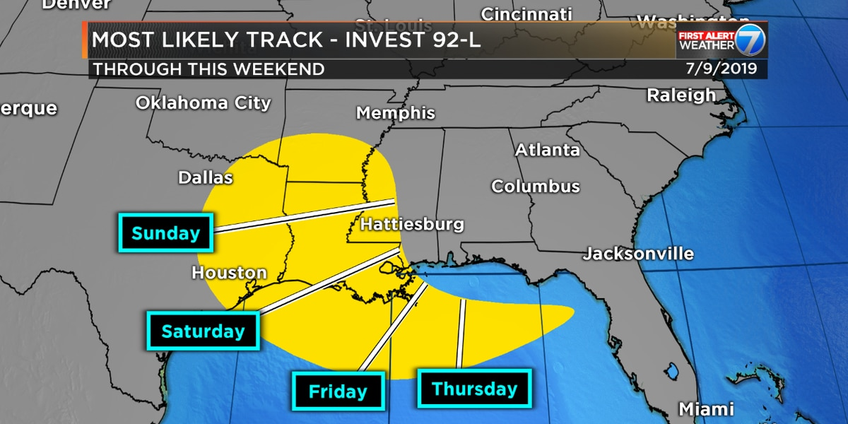 Invest 92L looms near Gulf; will bring heavy rain to Pine Belt