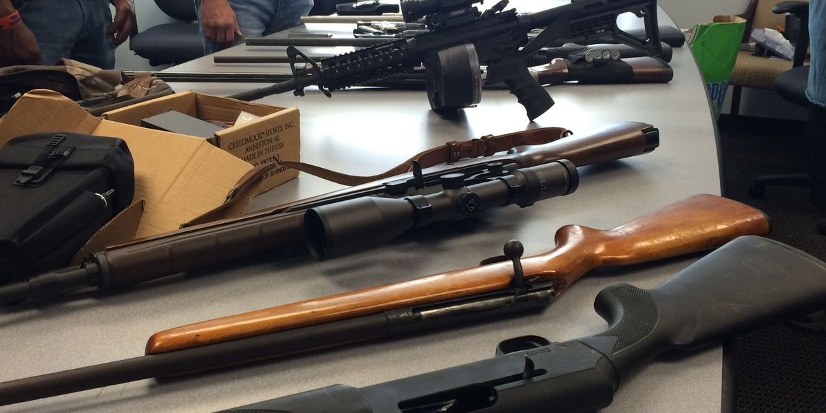 LPD domestic call leads to recovery of stolen weapons