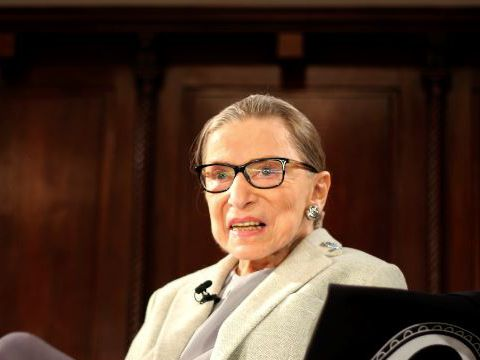 Ginsburg returns to Supreme Court bench in public session