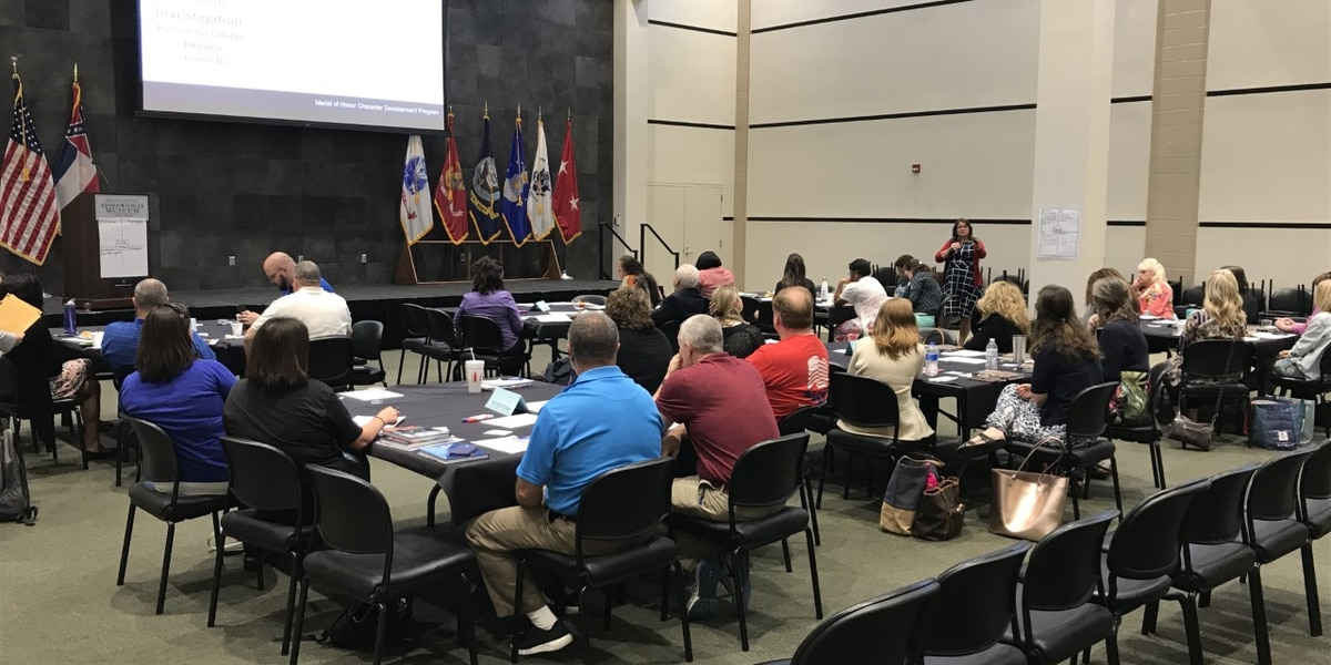 Camp Shelby hosts first Medal of Honor character training for teachers