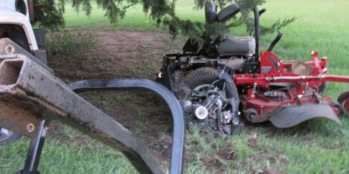Jones County man injured in lawnmower accident