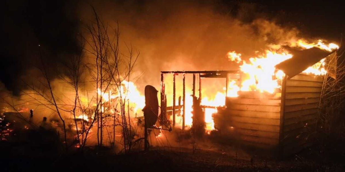 Overnight Fire destroys home in Jones County