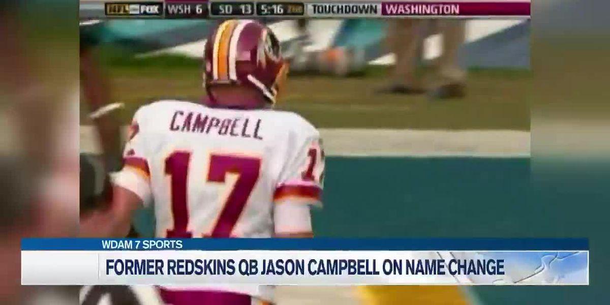 Taylorsville native and former NFL quarterback Jason Campbell shares thoughts on Redskins name change