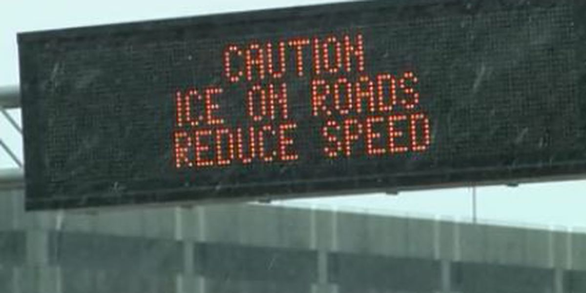 Icy roads create dangerous driving conditions