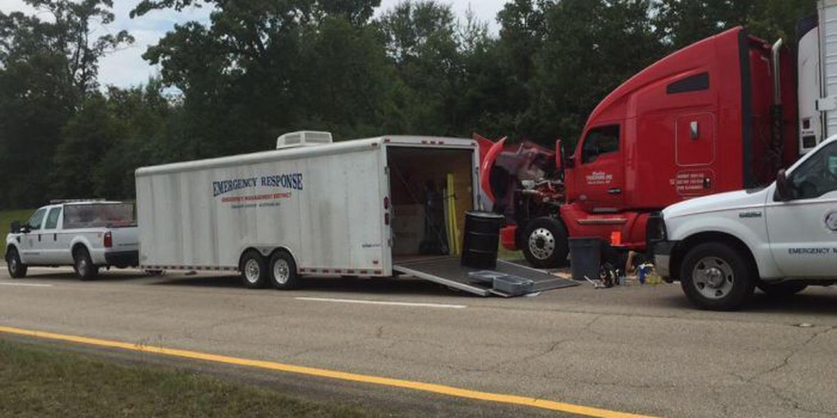 Gas tank rupture causes delays on Hwy 98