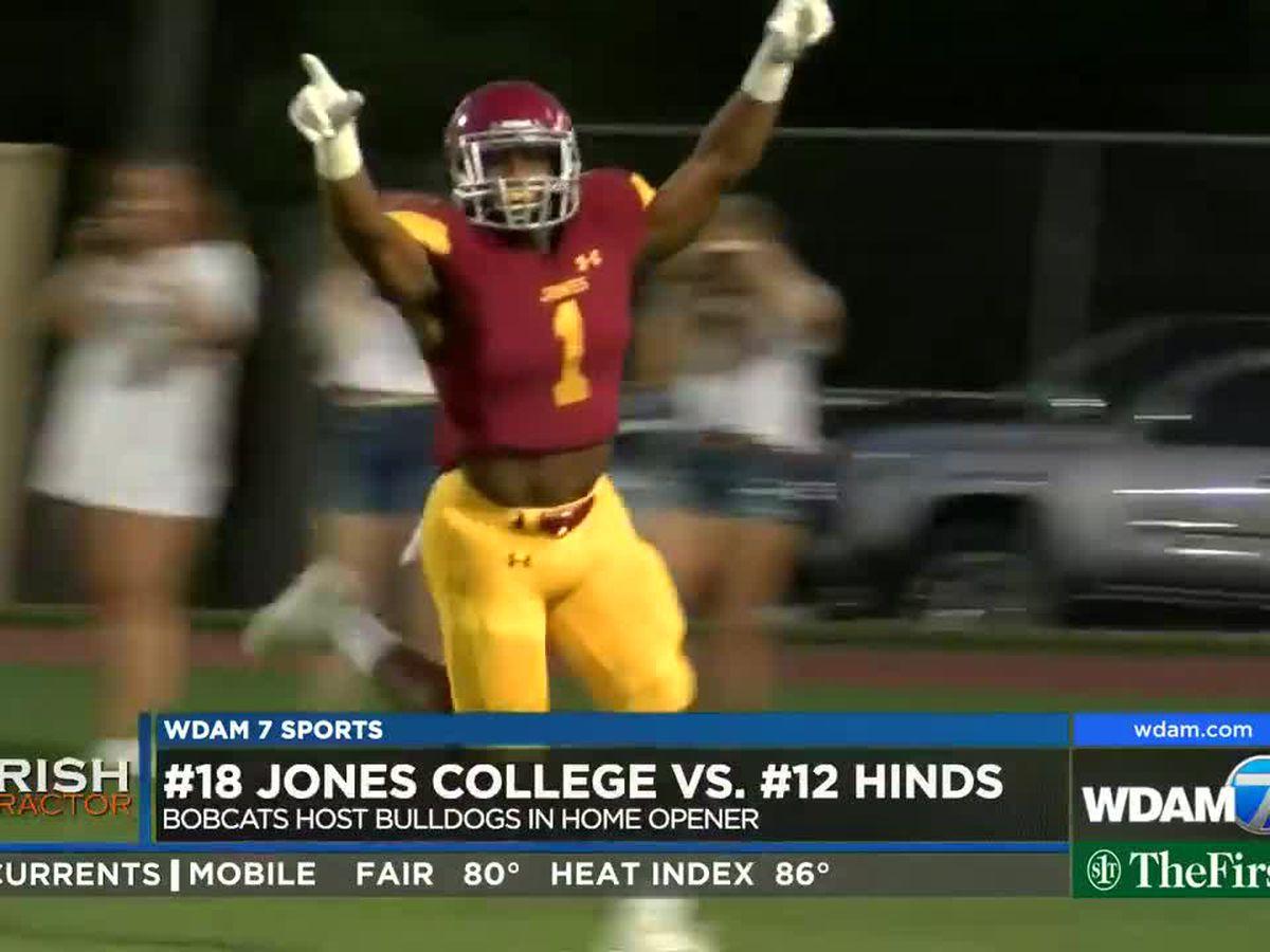 Webb's 3 TDs help No. 18 Jones past No. 12 Hinds