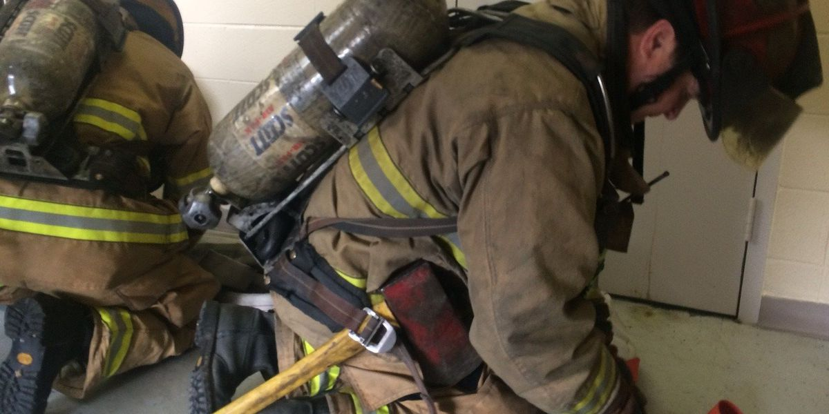 HFD trains for high-rise fires