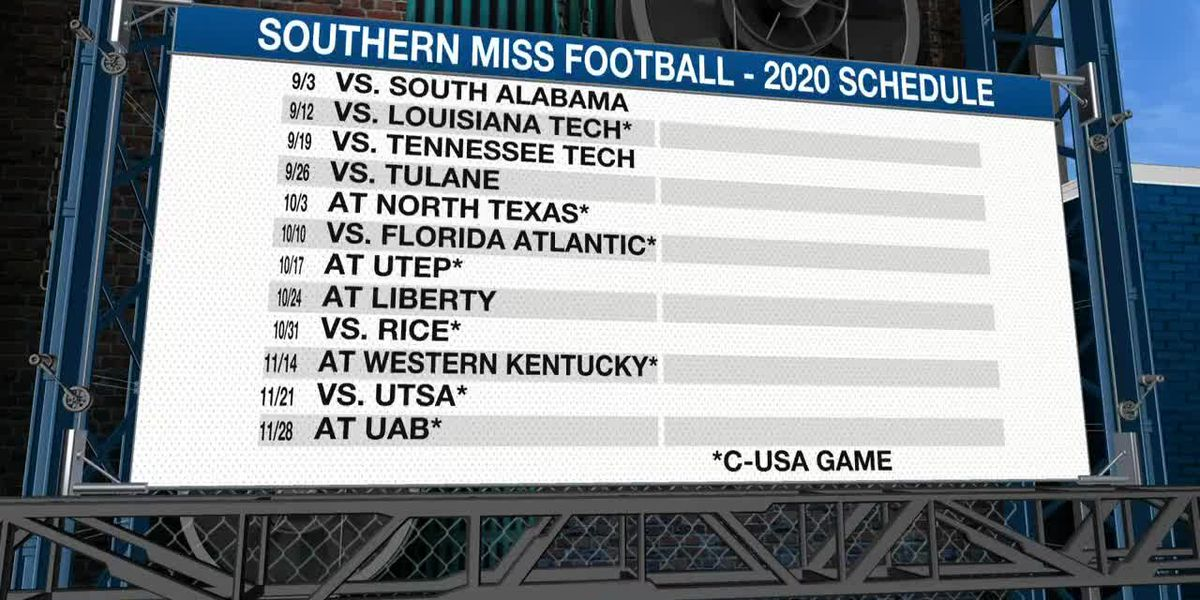 Southern Miss releases revised football schedule