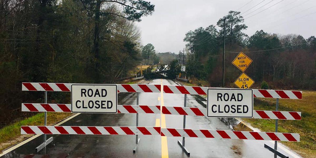 Jones County bridge closes after flood damage