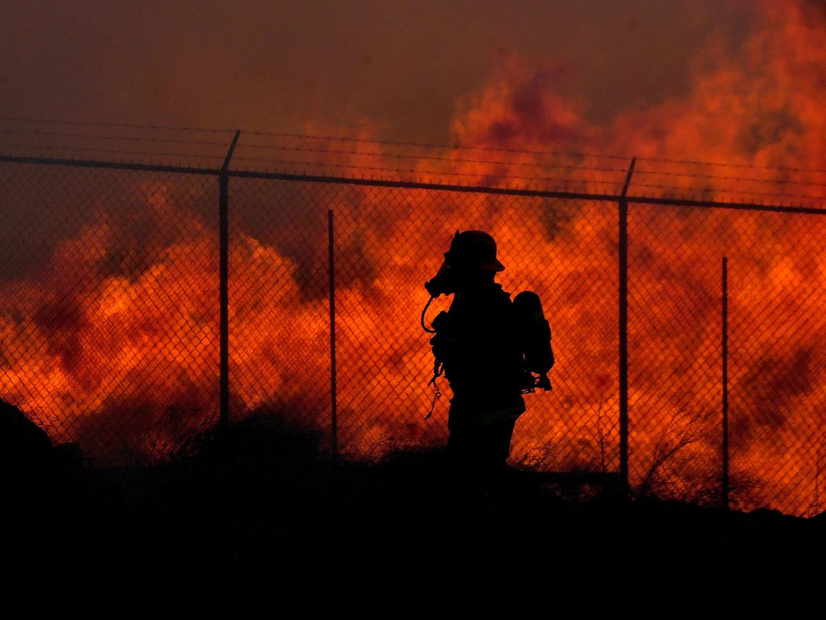 California fire danger remains high even as winds ease
