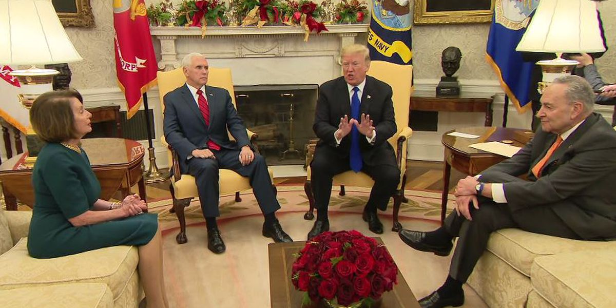 3 minutes: Trump meeting with Dems goes bust in a flash