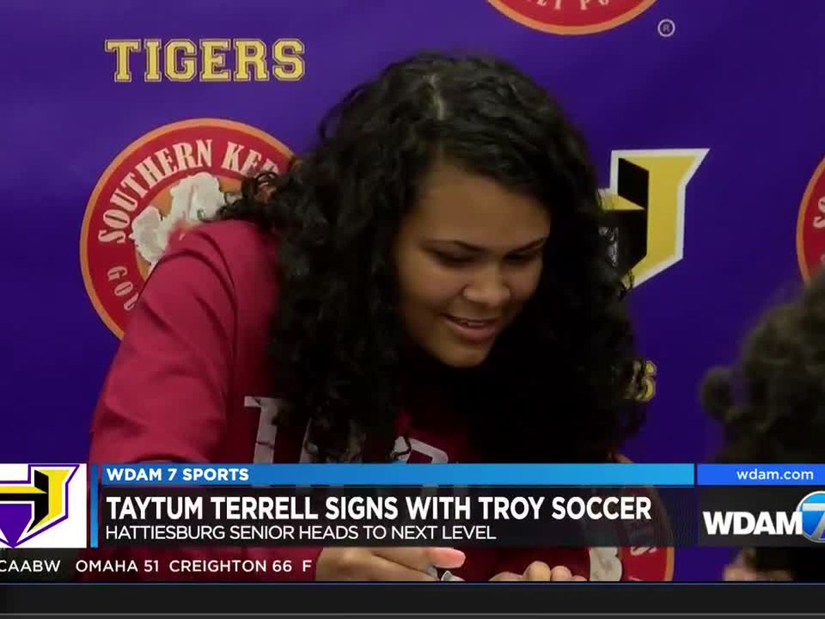 Hattiesburg's Taytum Terrell signs with Troy soccer