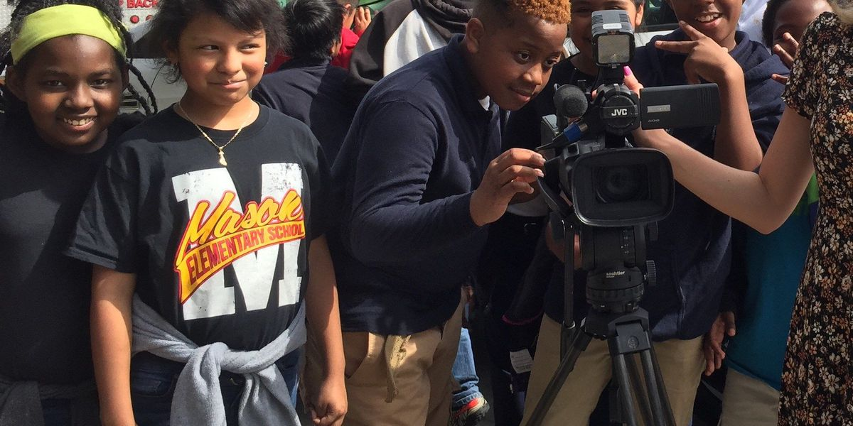 Mason Elementary learns about media