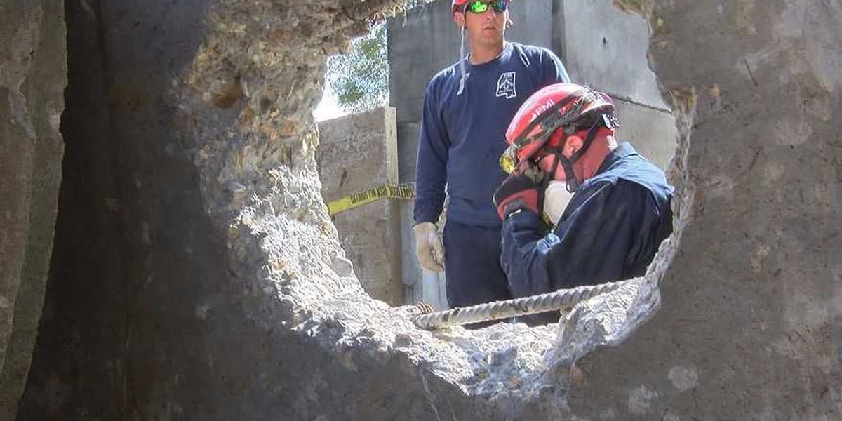 HFD takes part in structural collapse class
