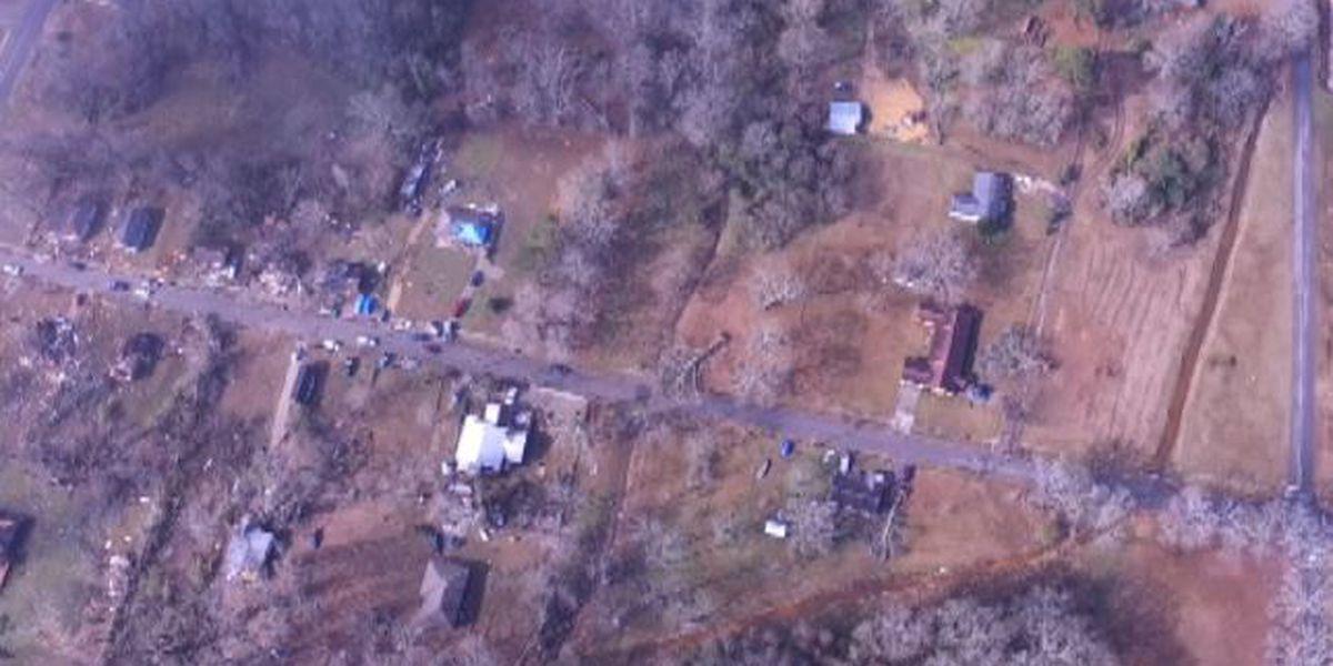 WATCH: Drone footage of tornado damage