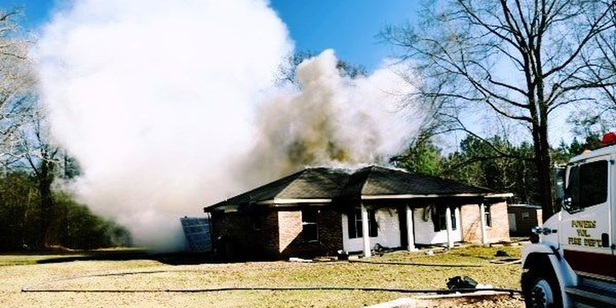 Home total loss after fire in Jones County