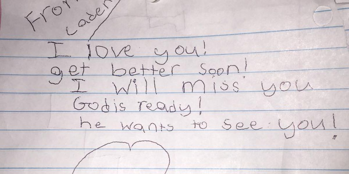 Mississippi child delivers beautiful letter to ailing grandfather hours before his death
