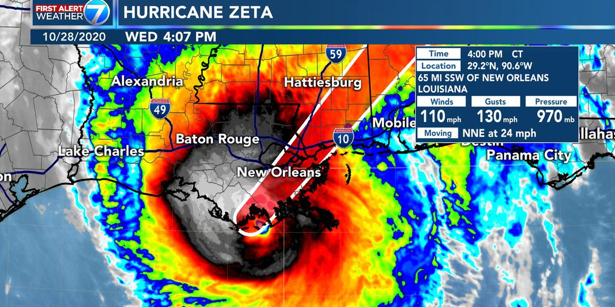 First Alert: Hurricane Zeta makes landfall, impacts beginning for south Mississippi