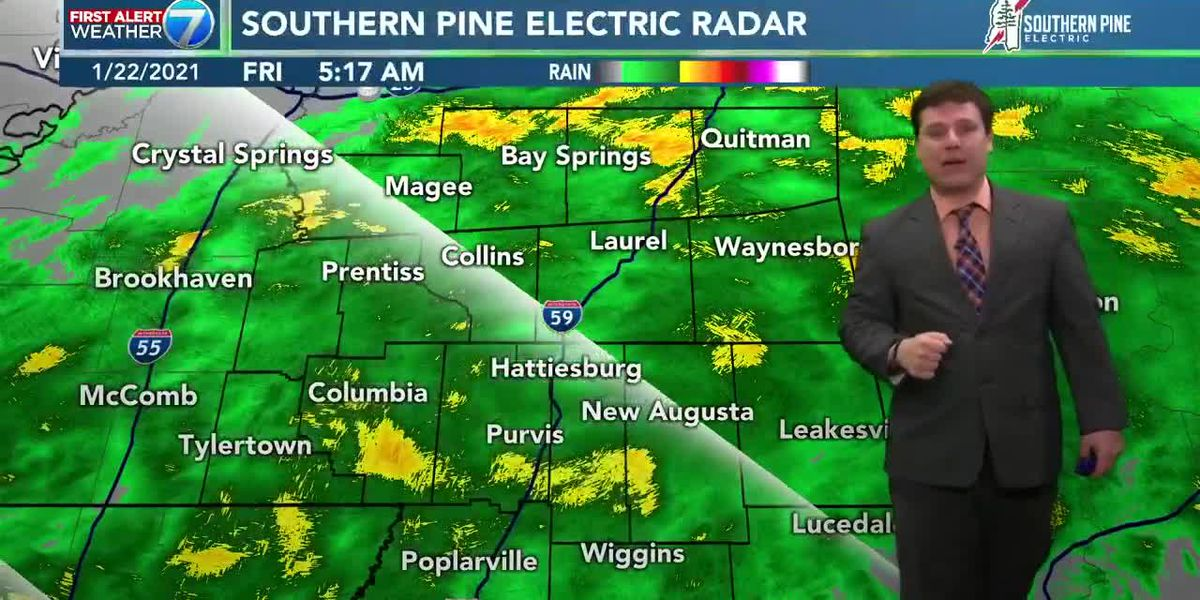 Rainy start on Friday in Pine Belt