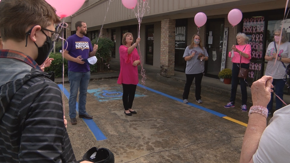 Purvis business hosts balloon release to honor those who've had breast cancer