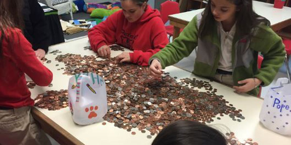 Petal Upper Elementary school donates almost 800 pounds of coins