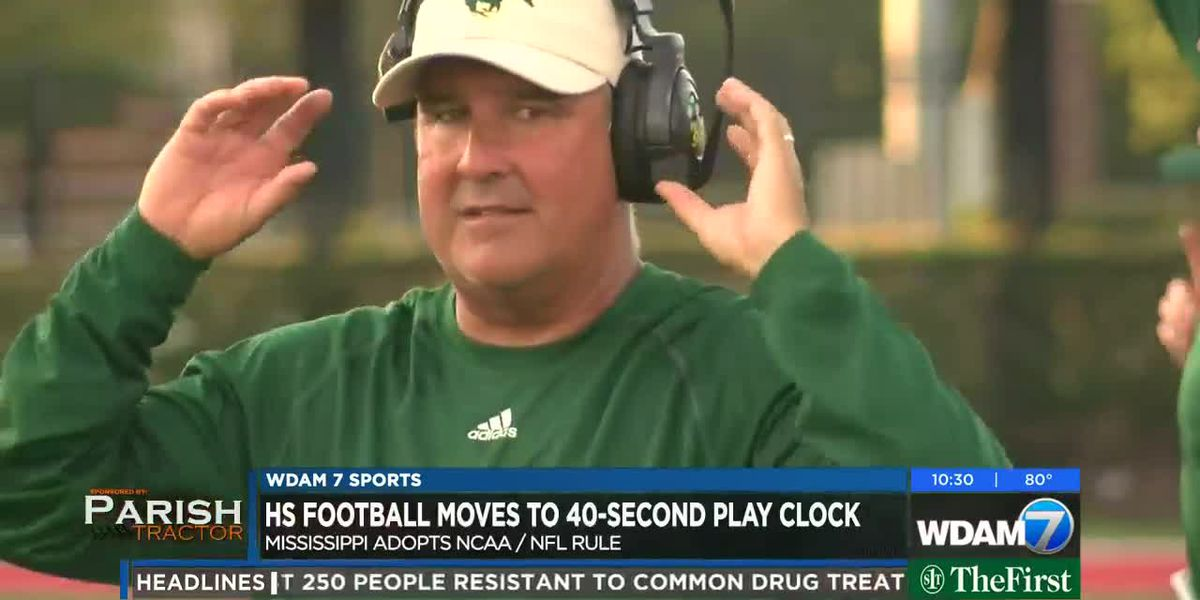 High school football adopts 40-second play clock in 2019