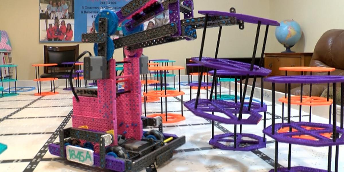 All girls robotics team promotes 'girl power' in STEM field