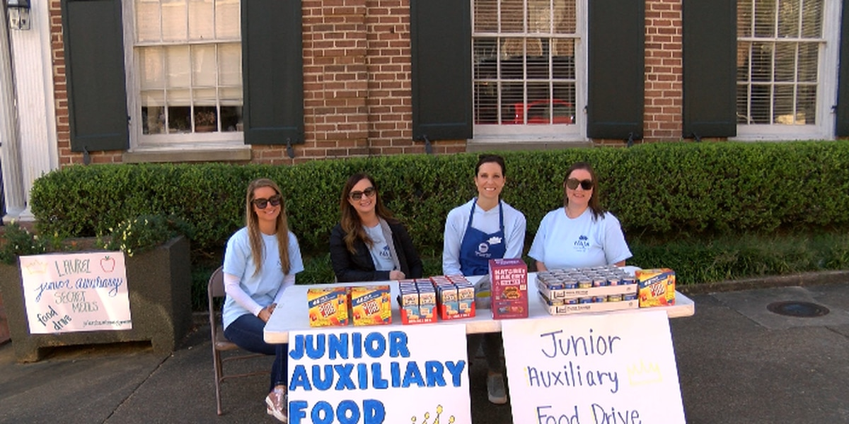Laurel Junior Auxiliary hosts food drive for Secret Meals project