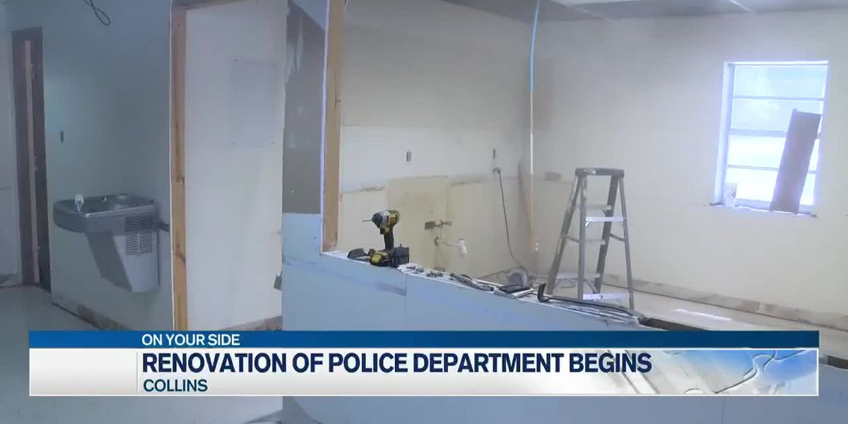 Renovation of Collins police department, library begins