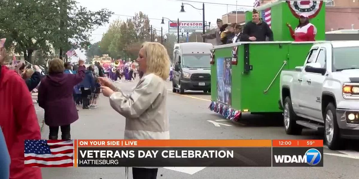 Hattiesburg's 36th annual Veterans Day services continue despite rain