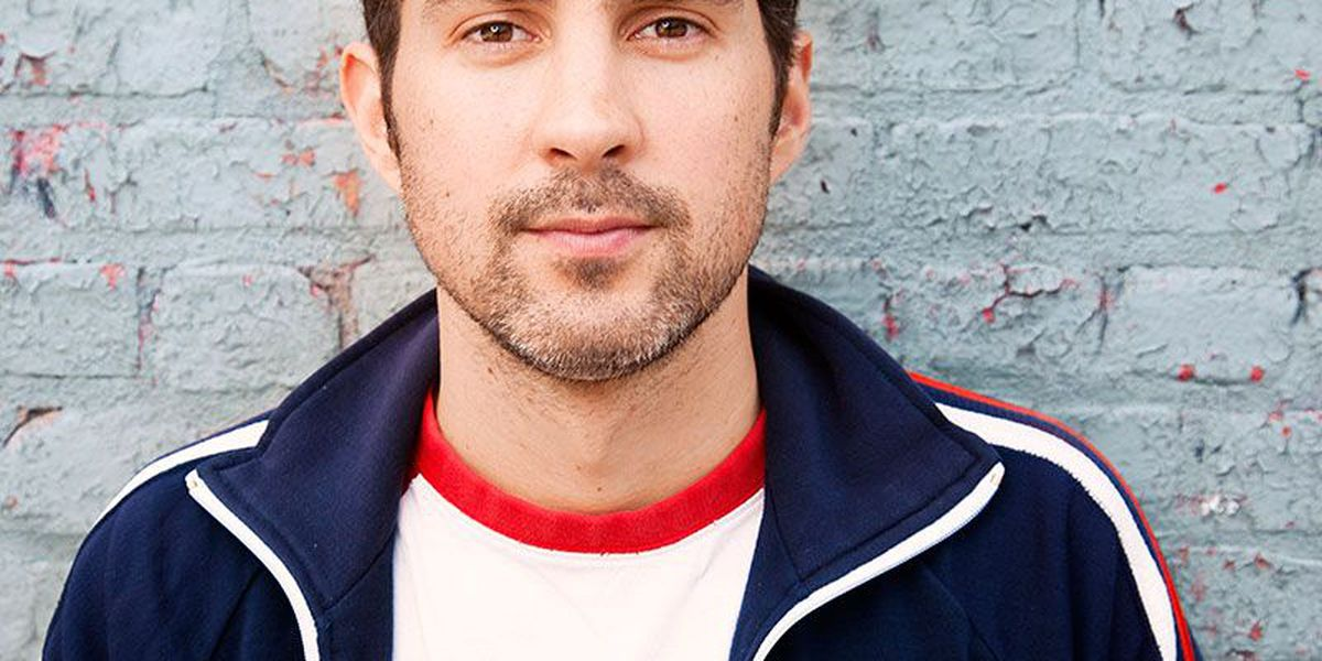 Comedian Mark Normand performing at Brewsky's