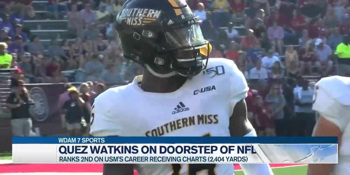 Quez Watkins on the doorstep of the NFL