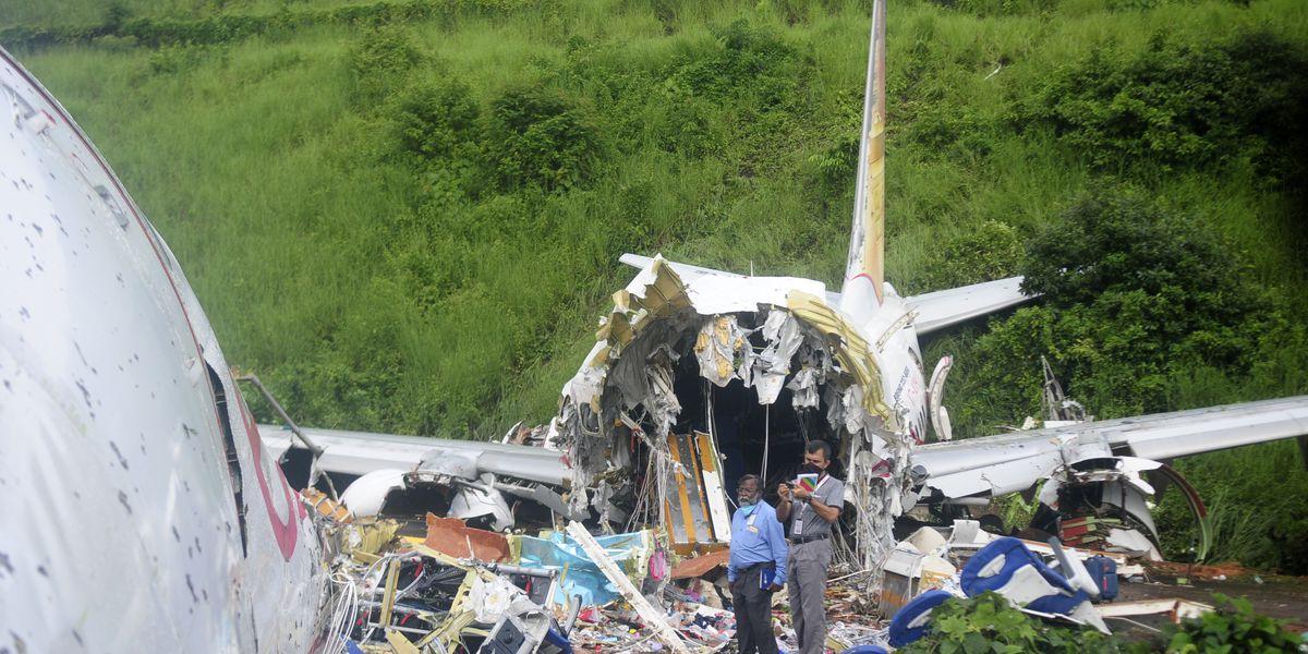 Indian plane skids off hilltop runway, cracks, killing 18