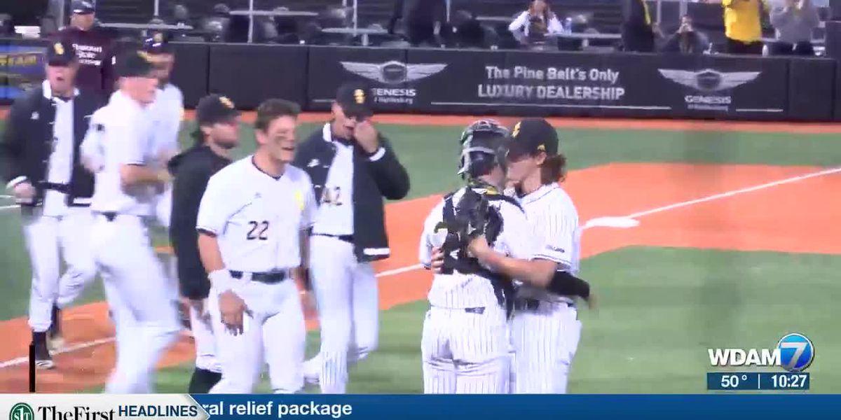 USM baseball holds on for 2-1 victory over Missouri State