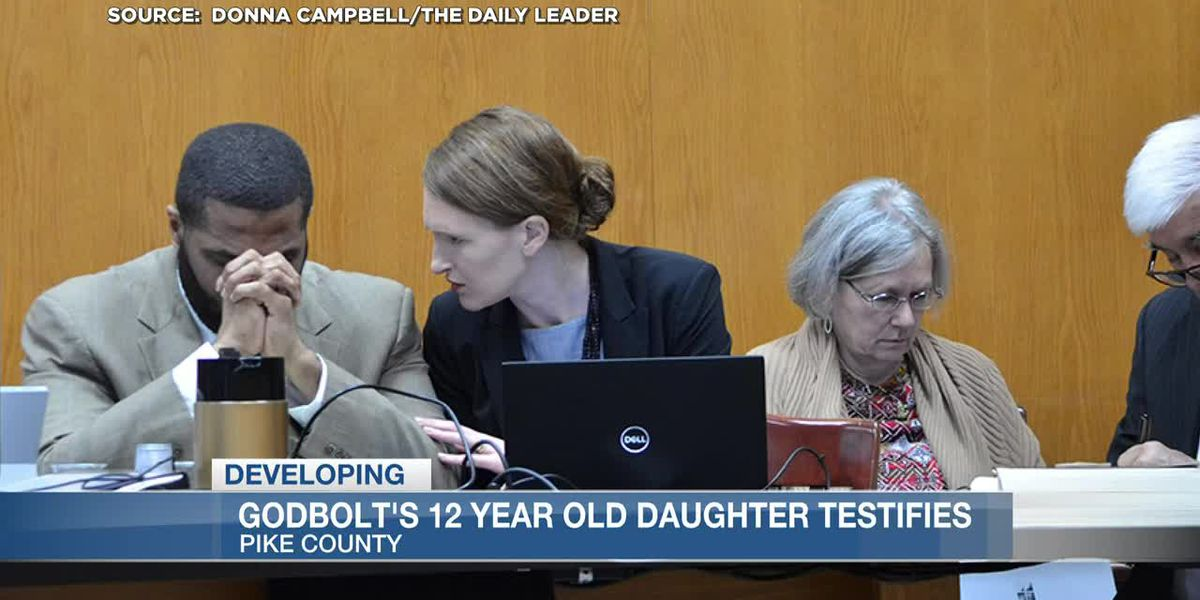 Cory Godbolt's 12-year-old daughter takes the witness stand in his capital murder trial