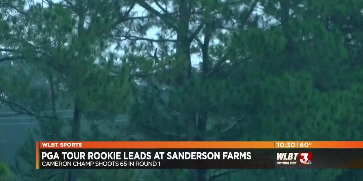 PGA Tour rookie leads at Sanderson Farms Championship