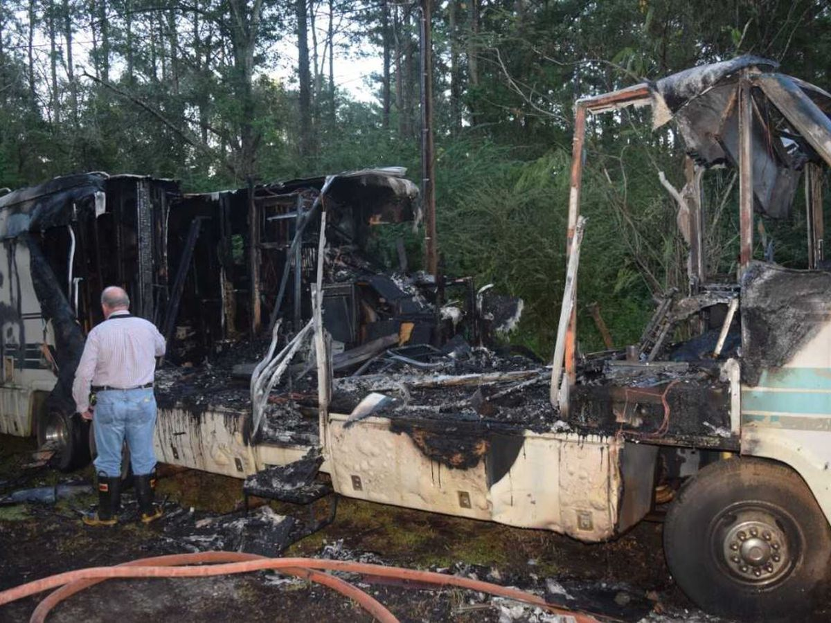 Body found inside burned RV in Jones County