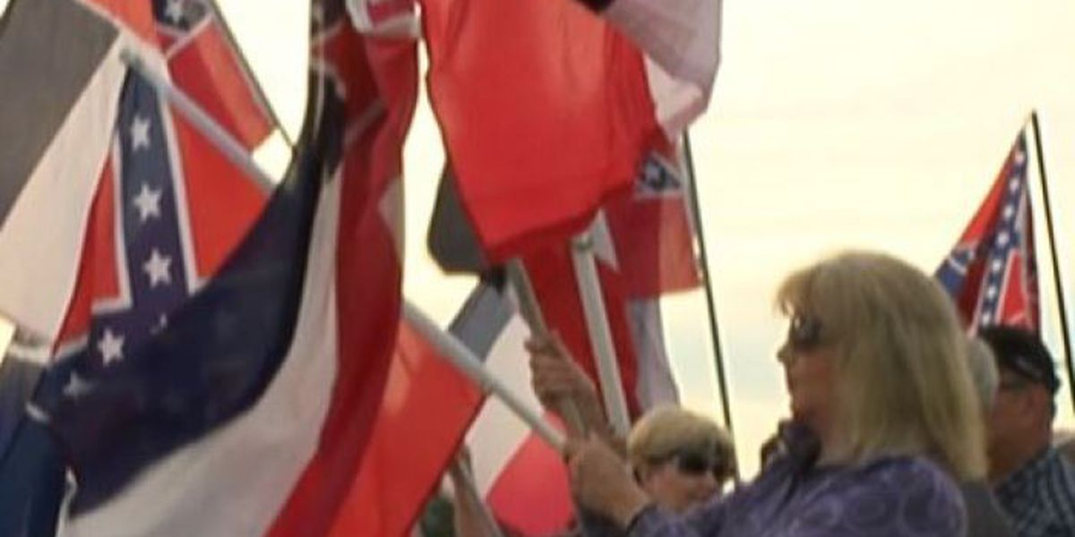 Pro-State Flag Protesters Gather In Front of USM